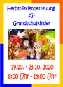 Herbstferienbetreuung für Grundschulkinder 2020