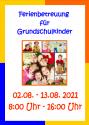Ferienbetreuung für Grundschulkinder 2021